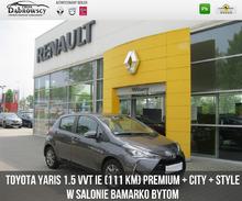 Toyota <em>Yaris </em> 1.5 VVT iE (111 KM) Premium + City + Style, 2017r.