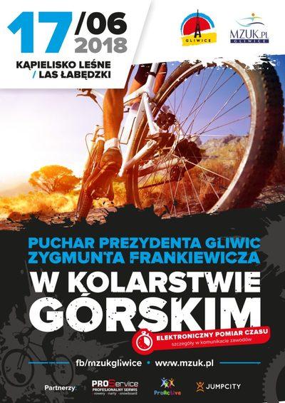 17 czerwca Grupa Dąbrowscy wspiera zawody Pucharu Prezydenta Gliwic w Kolarstwie Górskim.