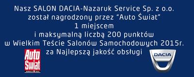 1 miejsce Nazaruk Service w Wielkim Teście Salonów 2015