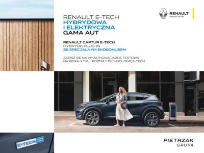 Gama aut hybrydowych i elektrycznych Renault E-TECH