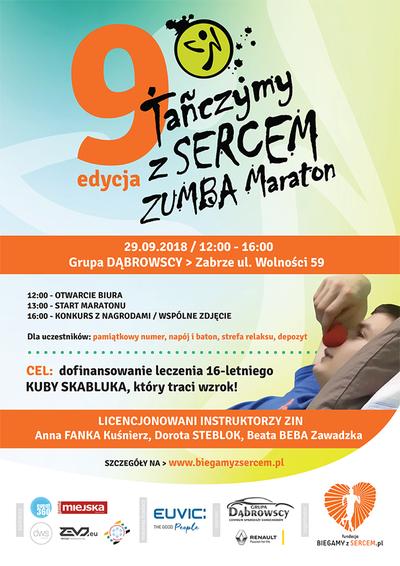 29 września -  impreza charytatywna 9 edycja ZUMBA MARATON
