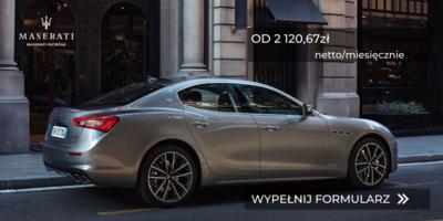 Maserati już od 2 120,67zł netto/miesięcznie