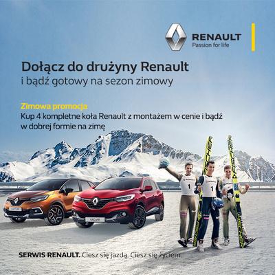 Kup 4 kompletne koła Renault z montażem w cenie!