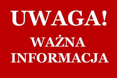 W sobotę 30.12. serwis w Zabrzu będzie nieczynny!