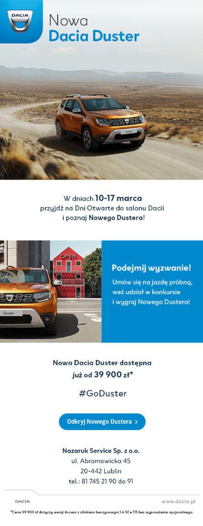 Nowa Dacia Duster. Dni otwarte 10-17 marca