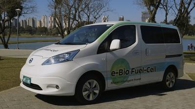 Prototyp Nissana elektrycznego z ogniwami paliwowymi zasilanymi bioetanolem.