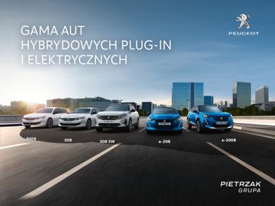 Gama aut hybrydowych Plug-In i elektrycznych