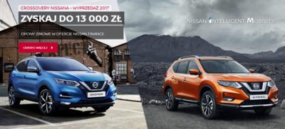 Crossovery Nissana - Wyprzedaż Rocznika 2017!