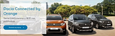 Dacia Connected by Orange  z WiFI na pokłądzie