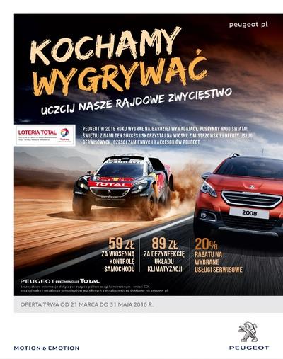 Świętuj rajdowe zwycięstwo z Peugeot Budmat Auto!