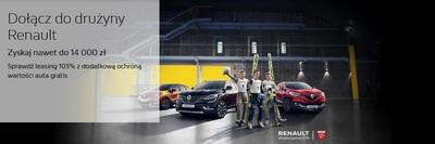 Dołącz do drużyny Renault. Zyskaj nawet do 14 000 zł.