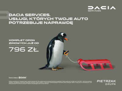 Przygotuj swój samochód do zimy z Dacia Pietrzak!