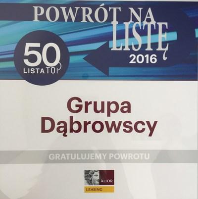 Grupa Dąbrowscy w gronie TOP50!