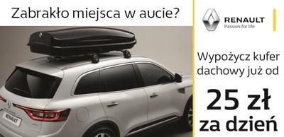 NOWOŚĆ w Salonie Renault Dubnicki - wypożyczalnia boxów dachowych