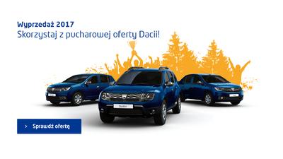 Wyprzedaż rocznika 2017 w Dacia Pietrzak