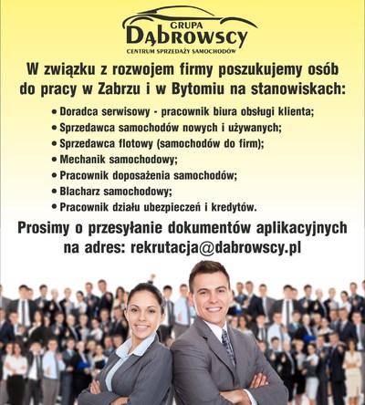 Dołącz do zespołu Grupy Dąbrowscy