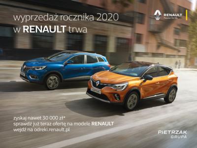 Wyprzedaż Renault trwa! Skorzystaj już TERAZ.