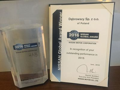 Dabrowscy sp. z o.o. nagrodzone przez NISSAN