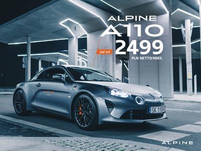 Alpine A110 już od 2499 zł netto miesięcznie.